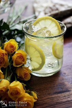 Rosewater Lemonade | Oman rosewater lemonade, edibl flower, rosewat lemonad