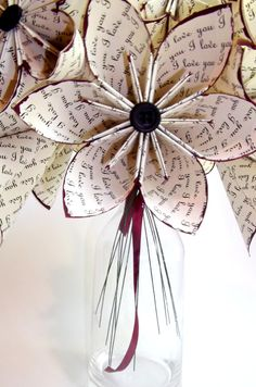 Thinking for the bride. Use real love letters (okay, photocopies!) between y'all.