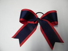 Cheer Bow- Uniform Bow-Two colors- Change the colors to match your team or school