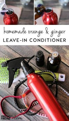 Homemade Leave-In Hair Conditioner Recipe: Orange & Ginger Leave-In Hair Conditioner