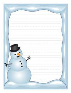 Holiday writing border