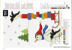 Gallery.ru / Фото #63 - Rico 92, 93, 94, 95, 96, 97, 98, 99, 100 - Fleur55555; Snowman with sled of presents; free pattern!