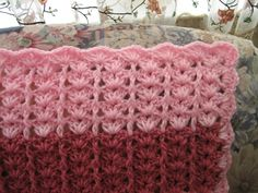 Free Crochet Lacy Shades of Pink Shells Afghan Pattern