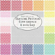 FREE chevron pattern printables
