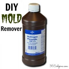 Day 336: DIY Mold Remover - 365ish Days of Pinterest diy mold remover, cleaning shower mold, cleaning spray, cleaning mold in shower, diy spray, hydrogen peroxide, cup water, clean mold in shower, clean mold on the wall