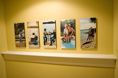 Mounted 10x20's. I love the simplicity of this display. Puts the focus on the moments in the photos....