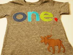 Lime Green and Blue Tshirt Moose Detail Birthday shirt Customize colors Boys Girls Organic Blend Birthday Tee first second etc birthda. $32.00, via Etsy.