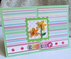 Quilled Daffodils Easter Card by KaisCards on Etsy, £3.00