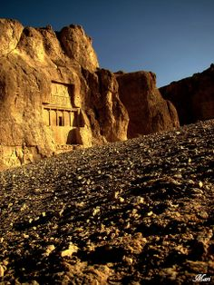 Naqsh-e Rustam is an archaeological site located about 12 km northwest of Persepolis, in Fars, Iran.