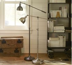 Pottery Barn Cole Task Floor Lamp in Antique Silver Finish $199 Special $159