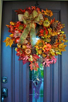 Fall Wreath Fall Fall Decor Fall Decoration by RedWithEnvyDesigns