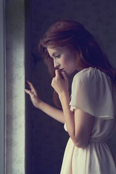 Photography, pose, hands, window, natural light, profile, thoughtful, skin,
