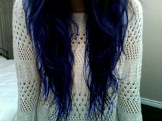 I have an obsession with blue hair