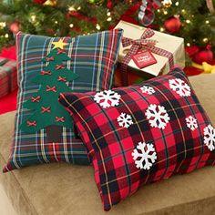 holiday design, home crafts, christma throw, craft idea, plaid shirts