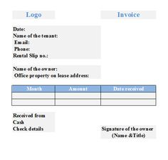rental property invoice template .