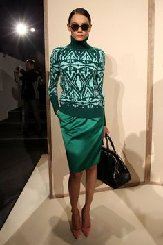J.Crew -Fall 2012  This sweater is chic paired with blush colored shoes, love!