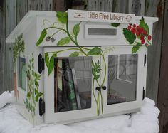 birdhouses, books, library design, little free libraries, buildings, front yards, flowers garden, floral, little flowers