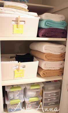 How to Organize the Linen Closet - Ask Anna