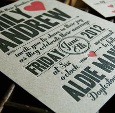 Cupid   Letterpress Wedding Invitation Sample by paisleytreepress, $5.00