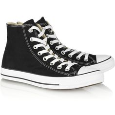 Converse Chuck Taylor canvas high-top sneakers ($55) ❤ liked on Polyvore