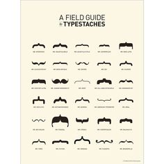 A Field Guide to Typestaches: Old Tom Foolery