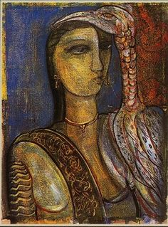 Untitled IV, Rini Dhumal Figure in Red
