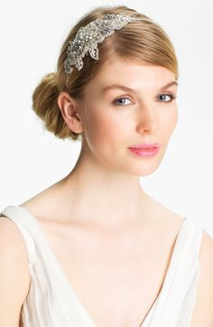 vintage inspired crystal hairband. gorgeous!