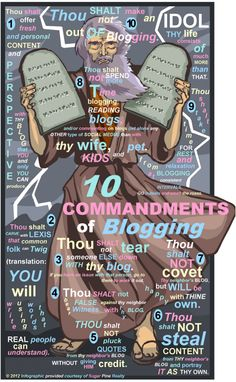 10 Commandments Of Blogging