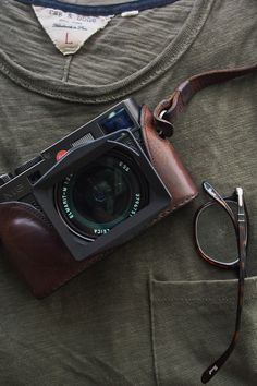 Leica M8 with leather case strap