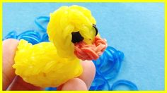 Rainbow Loom 3D Rubber Ducky Charm - How to make with loom bands