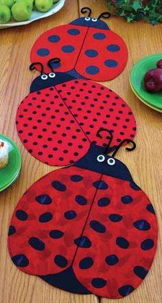 lady bug placemats