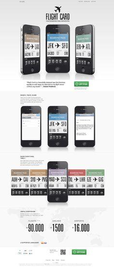 Flight card - app #digitaldesign #design #web