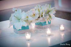Tiffany blue and white wedding lounge