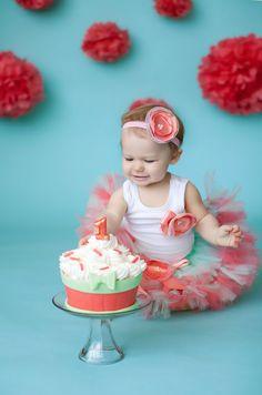 Coral Mint Tutu Baby Dress