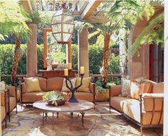 love this outdoor living room