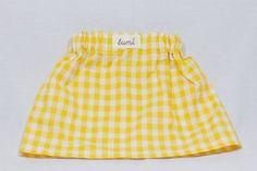 yellow gingham skirt