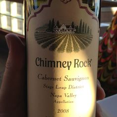 2008 Chimney Rock Cabernet Sauvignon from Stag's Leap District in Napa Valley.   Awesome bottle. Happy to find it here in Huntington Beach, CA.