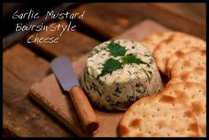 Garlic Mustard Boursin-Style Cheese