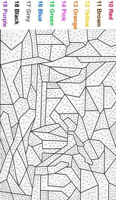 Coloring Pages For Teenagers Difficult Color By Number Images ...