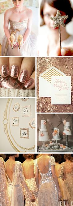 Rose gold wedding. Because every girl needs her sparkle. And I NEVER say no to gold glitter.