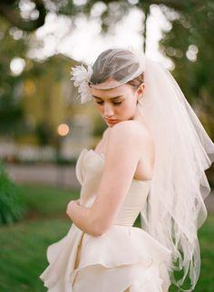"Halo tattered bridal veil - ""unicorn tail"" - Style # 223 | Veils | Twigs & Honey ®, LLC"
