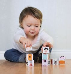 Mod Podge children's blocks - a budget craft
