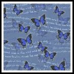 member's free vintage butterfly backing paper pack blue
