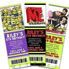 dispicable me party - great invite idea