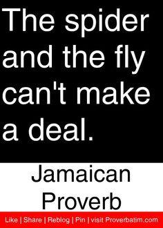 funni quot, jamaican quotes, spider, jamaican proverb
