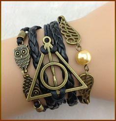 black mens braceletdeathly braceletowl braceletangel