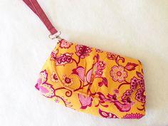 Pink Peony Bag PDF Pattern and Tutorial - shoulder bag/clutch/wristlet