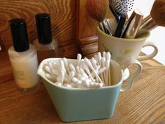 #Cute way to store Q-tips(R) cotton swabs!