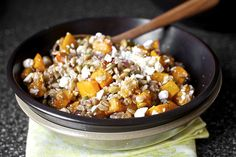 butternut salad with farro and pepitas