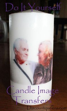 Do It Yourself Candle Image Transfers